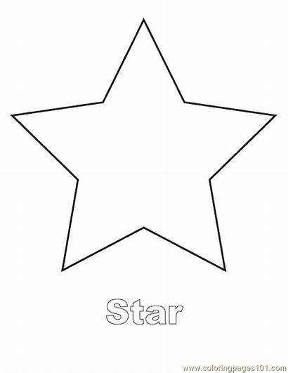 Shapes Coloring Shape Pages Printable Star Template