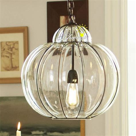 antique handmade glass and iron pendant lighting 9016