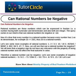 Can Rational Numbers be Negative by tutorcircle team - Issuu