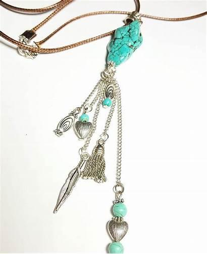 Tribal Jewelry Necklace Pretty Aqua Ethnic Bracelet