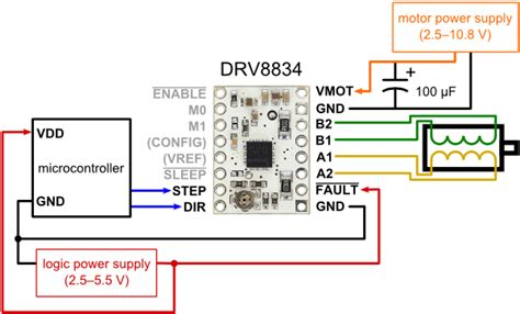 pololu drv  voltage stepper motor driver carrier