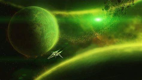 Digital Art, Universe, Space, Planet, Stars, Spaceship