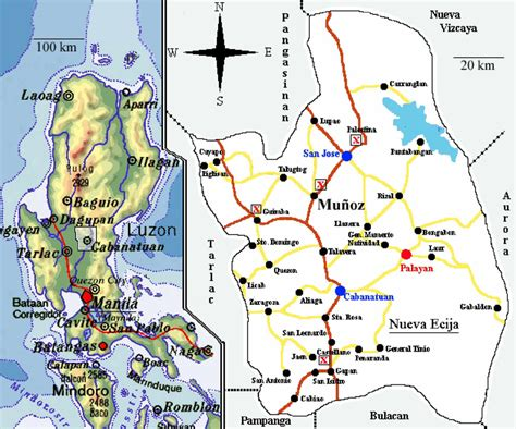 Map Of Luzon Philippines With Enlarged Province Of Nueva