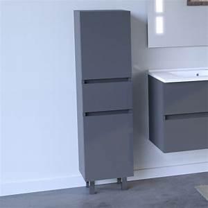 colonne salle de bain armoire salle de bain sur pieds With porte de douche coulissante avec meuble salle de bain gris anthracite