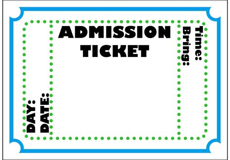 Ticket Template Admit One Ticket Template Exle Mughals