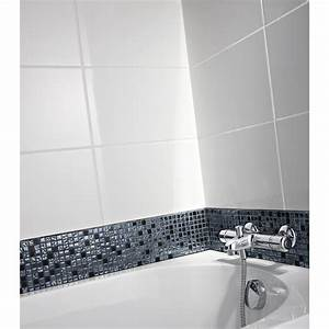 Carrelage Salle De Bain Blanc : carrelage mural en fa ence blanc 25 x 40 cm leroy ~ Melissatoandfro.com Idées de Décoration