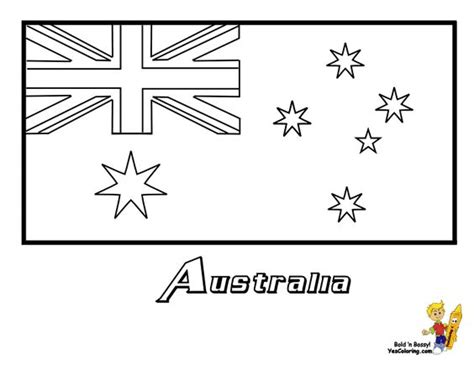 australia flag coloring page     international flags  color  territories