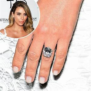 Love it or leave it kim39s white engagement ring manicure for Kim kardashian wedding ring kanye