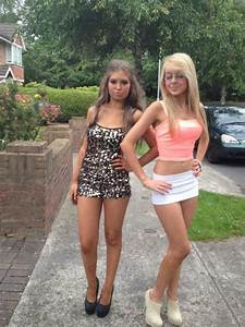 Hot teens in skirts