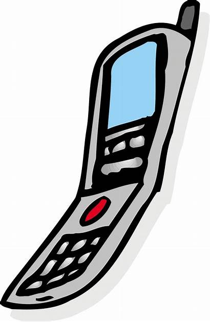 Ringing Phone Cell Clipart Phones Cartoon Animation