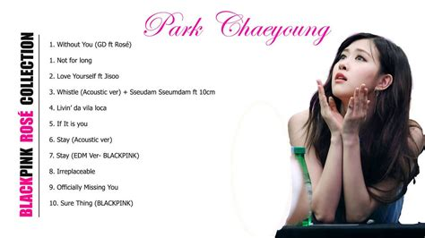 blackpink rose songs collection youtube