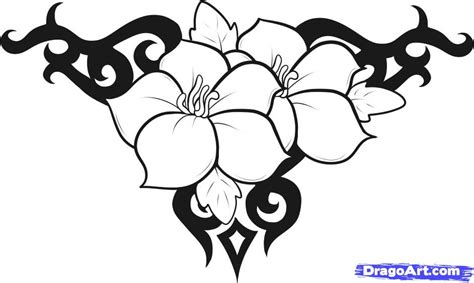easy to draw designs how to draw flower designs step by step tattoos pop