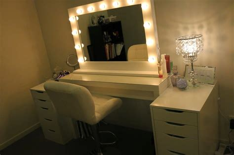 makeup vanity with lights ikea rogue hair extensions ikea makeup vanity hollywood lights
