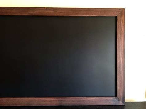 large magnetic framed chalkboard  rustic frame