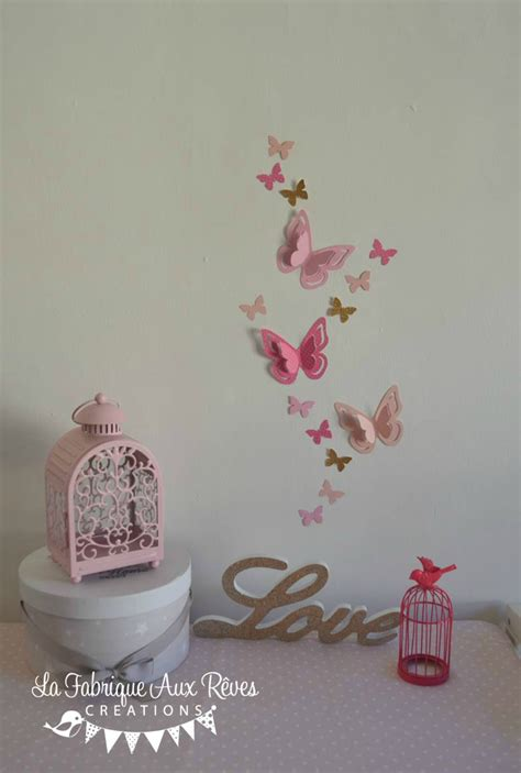 d馗oration papillon chambre trendy stickers papillons d vif dor paillettes poudr dcoration chambre bb vif dor with dcoration papillon chambre fille