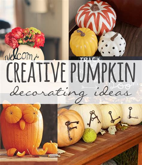 Creative Pumpkin Decorating Ideas by This House Of Mine Creative Pumpkin Decorating Ideas