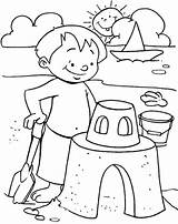 Coloring Beach Pages Printable Kyle Dream sketch template