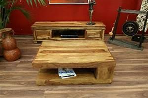 Couchtisch Holz Natur : couchtisch natur stauraum 90x60x40 sheesham holz massiv wohnzimmertisch bali neu ebay ~ Markanthonyermac.com Haus und Dekorationen