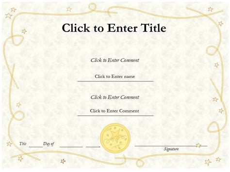 formal  informal editable certificate template