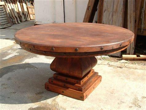 mesquite table   rustic gallery  san antonio
