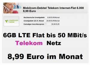Mobilcom Debitel Login Rechnung : fette 6gb lte flat im telekom netz nur 8 99 euro pro monat ~ Themetempest.com Abrechnung