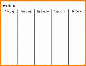 7 monday through friday calendar daily log sheet With monday through saturday calendar template
