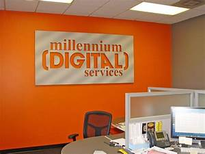 dimentional signs laser cut acrylic letters and logos 5 With office wall letters