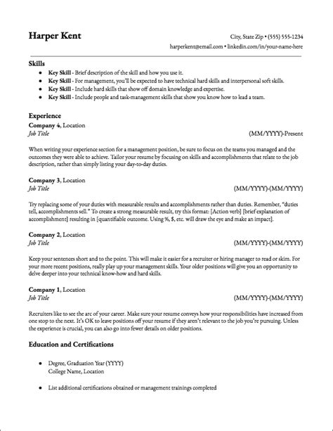 Sle Resume Templates by Resume Template Database