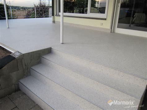 steinteppich treppe außen marmorix 174 steinteppich verlegebeispiele au 223 enbereich