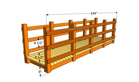 wooden bridge plans  outdoor plans diy shed