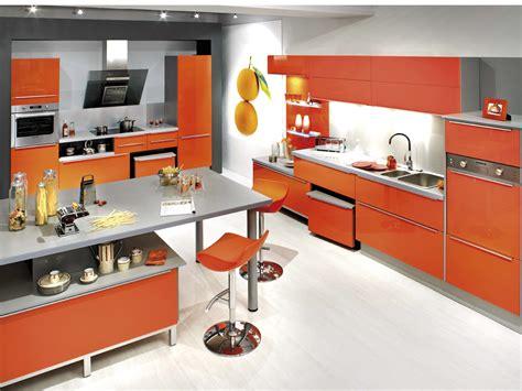 meuble cuisines emejing meuble cuisine orange ideas awesome interior