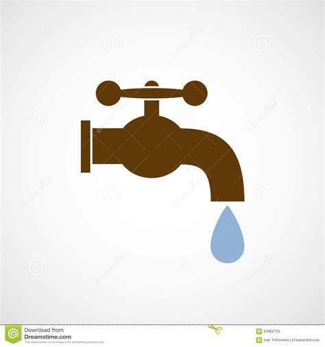 logo tap   drop  water stock illustration image
