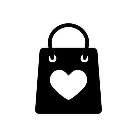 heart shaped shopping bag icon download free icons