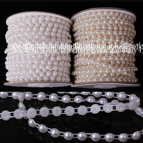 Pearls For Decoration - 5 meters ivory white pearl garland wedding