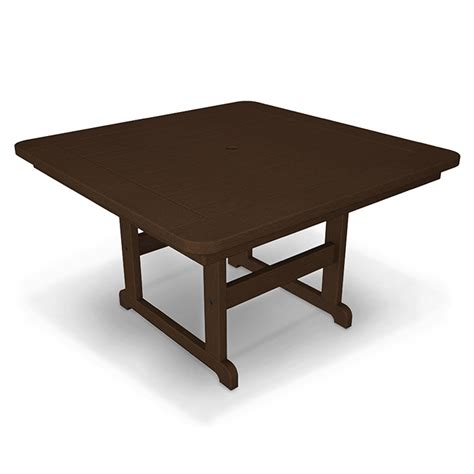 polywood outdoor 44 square dining table durable all