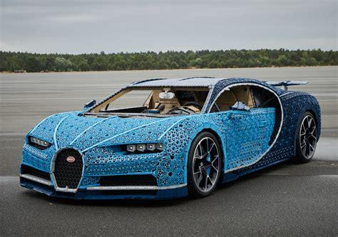 lego built  full size bugatti chiron