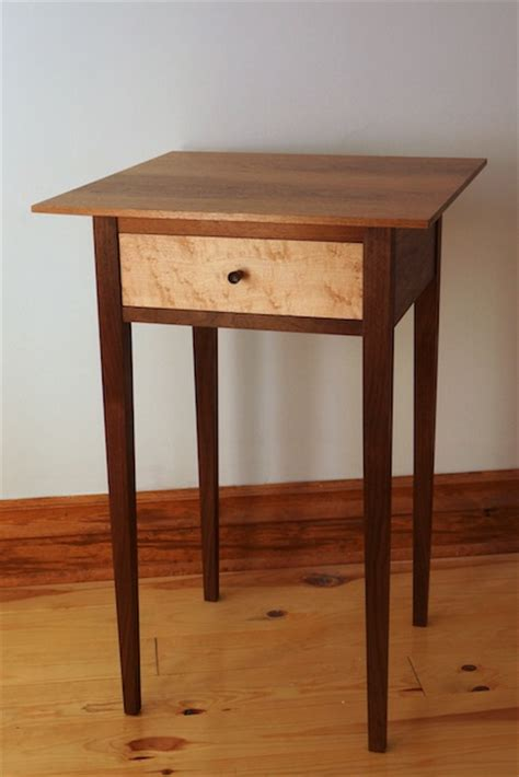 shaker side table plans   woodworking plans