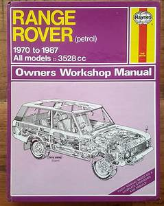 Haynes Range Rover Owners Workshop Manual 1970-1987