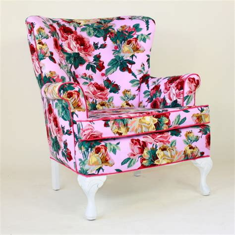pink floral s chair contemporary armchairs and accent