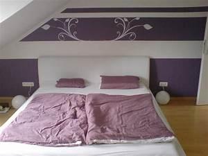 Mauer Wand Wohnzimmer : wand streichen ideen lila und ~ Lizthompson.info Haus und Dekorationen