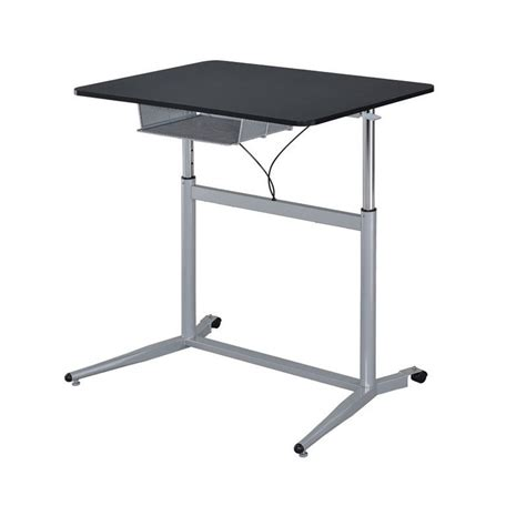 standing height desk with storage coaster height adjustable standing desk with storage in