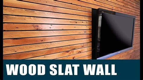 how to build a timber feature wall making a wood slat feature wall youtube