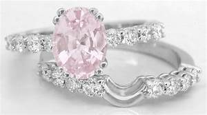 natural light pink sapphire engagement ring in 14k white With light pink wedding rings