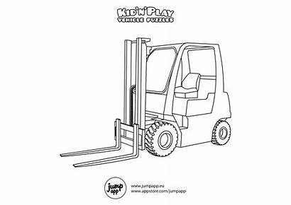 Coloring Forklift Printable Pages Sheets Bus Books