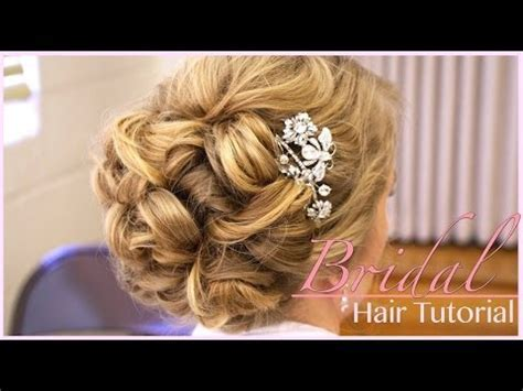 Classic Bridal Updo: Hair Style Tutorial   YouTube