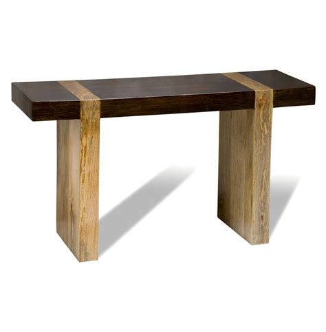 rustic wood sofa table berkeley chunky wood modern rustic console sofa table