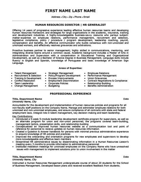 human resources director resume template premium resume