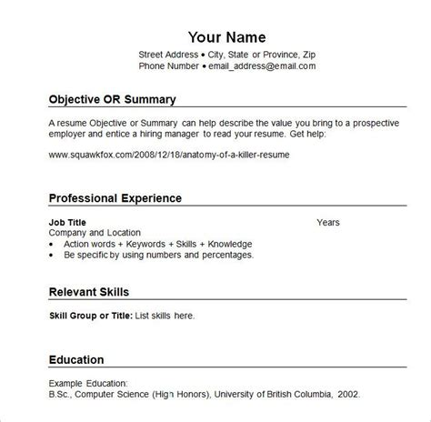 Chronological Resume About by Sle Resume Templates Chronological What Chronological