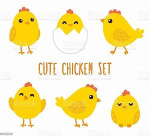 Cute Cartoon Chicken Set Stock Illustration - Download Image Now