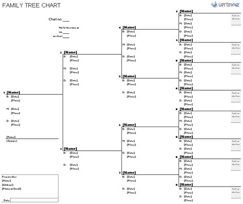 Family Tree Diagram Template Microsoft Word by Free Family Tree Template Printable Blank Family Tree Chart